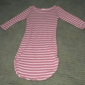 Heart& Hips blush striped bodycon dress